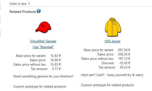 Produits associés VM